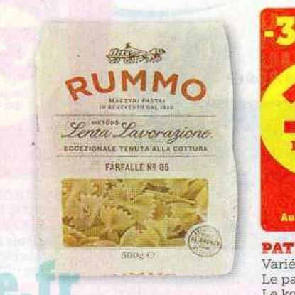 Pâtes Rummo Super U (07/07/2020 – 18/07/2020)
