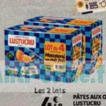 Pâtes Lustucru Auchan (08/07/2020 – 14/07/2020)