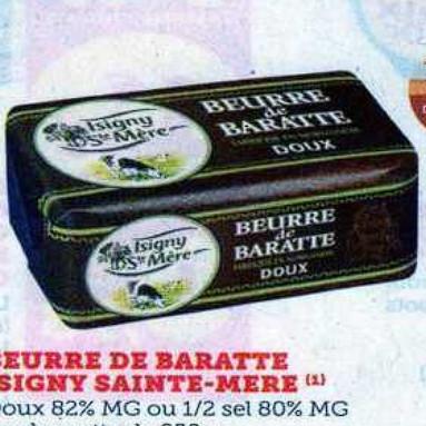 Beurre Isigny Ste Mère Super U (07/07/2020 – 18/07/2020)