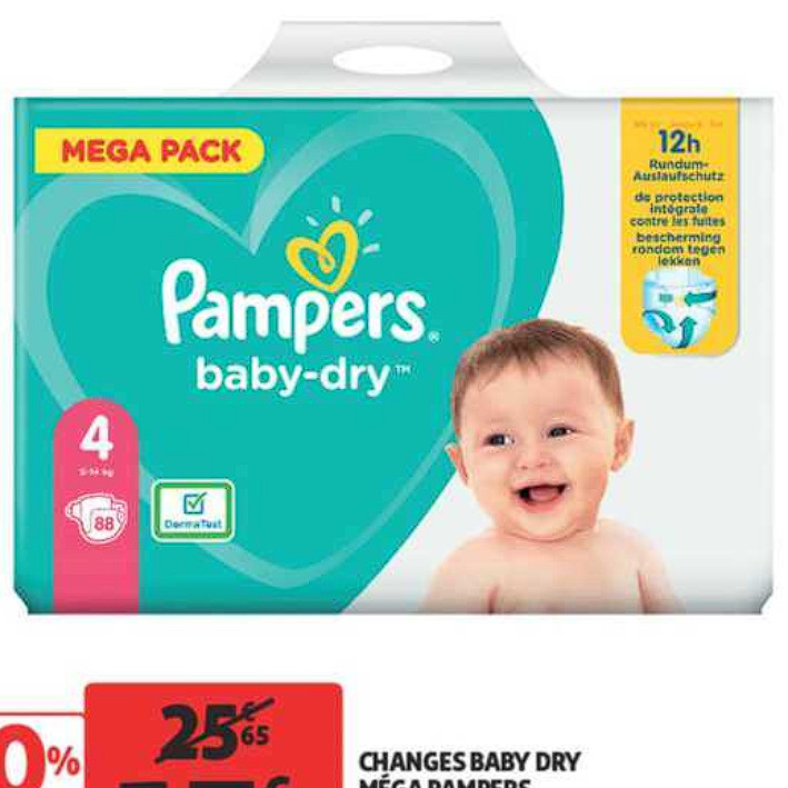 Couches Pampers Auchan Supermarché (01/07/2020 – 07/07/2020)