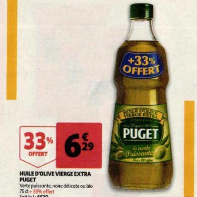 Huile Puget Auchan (08/07/2020 – 14/07/2020)