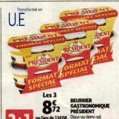 Beurre Président Auchan (01/07/2020 – 07/07/2020)