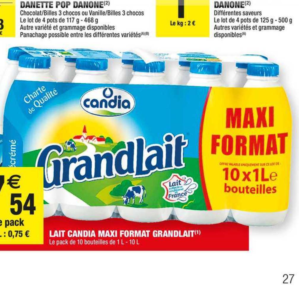Lait Candia Carrefour Market (07/07/2020 – 19/07/2020)