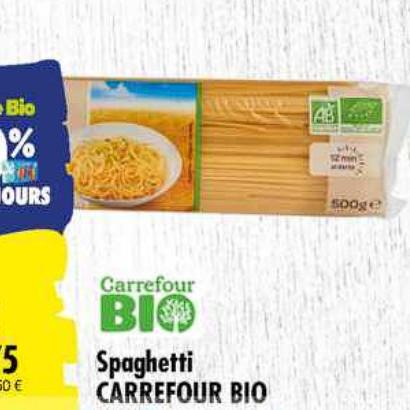 Pâtes Carrefour (07/07/2020 – 20/07/2020)