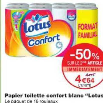 Papier Toilette Lotus Monoprix 01/07/2020 – 12/07/2020