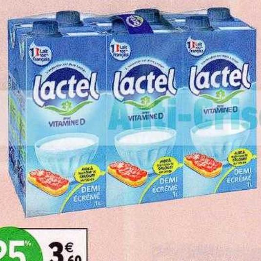 Lait Lactel Intermarché 30/06/2020 – 12/07/2020
