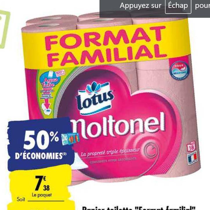 Papier Toilette Lotus Carrefour (07/07/2020 – 20/07/2020)