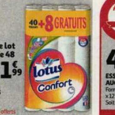 Papier Toilette Lotus Auchan (08/07/2020 – 14/07/2020)
