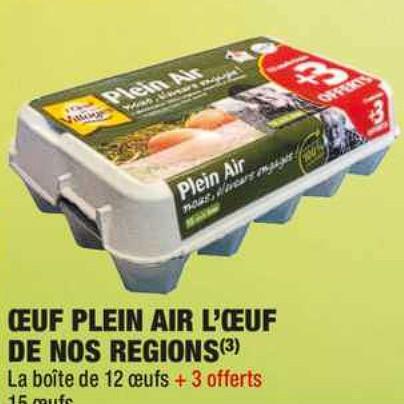 Oeuf L'Oeuf de Nos Régions Carrefour Market (07/07/2020 – 19/07/2020)