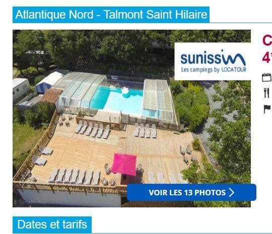 99-169€ en juin la semaine en mobil home en Vendée