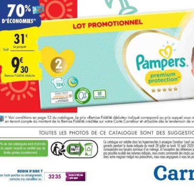 Couches ou Pants Premium ou Harmonie Pampers chez Carrefour (28/07 – 10/08)