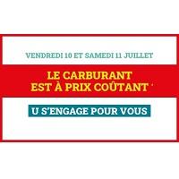 Magasins U : Carburant à Prix Coûtant (10/07 – 11/07)