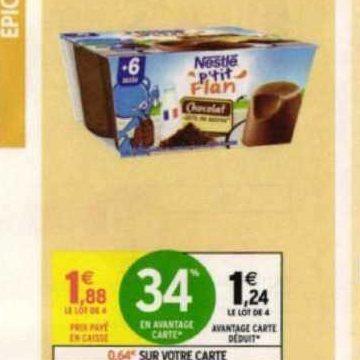 P'tit Flan Nestlé Bébé chez Intermarché (28/07 – 09/08)