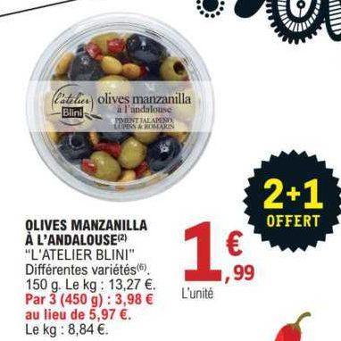 Olives Blini chez Leclerc Est (21/07 – 25/07)