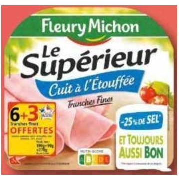 Jambon Fleury Michon Lidl du 08/07/2020 au 14/07/2020