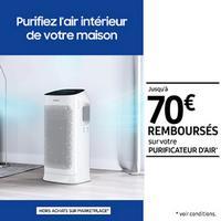 Offre de Remboursement Samsung : Jusqu'à 70€ Remboursés sur Purificateur d'air