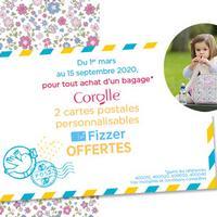 Bon Plan Corolle : 1 Bagage Acheté = 2 Cartes postales personnalisables Offertes