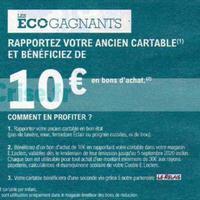 Leclerc : 10€ en Bons d'Achat en Ramenant votre Ancien Cartable
