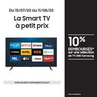 Offre de Remboursement Samsung : 10% Remboursés sur TV UHD