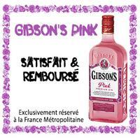 Offre de Remboursement Gibson's : Gibson's Pink Satisfait ou 100% Remboursé en 4 Bons