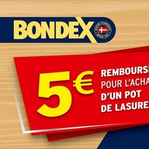 Offre de Remboursement Bondex : 5€ Remboursés sur Lasure
