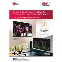 Bon Plan LG : 1 TV Achetée = 1 an d'Abonnement à RMC Sport