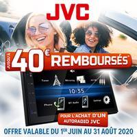 Offre de Remboursement JVC / Kenwood : Jusqu'à 40€ Remboursés sur Autoradio