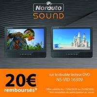 Offre de Remboursement Norauto : 20€ Remboursés sur Lecteur DVD
