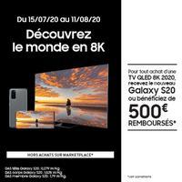 Offre de Remboursement Samsung : 500€ Remboursés sur TV QLED 8K