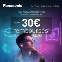 Offre de Remboursement Panasonic : Jusqu'à 30€ Remboursés sur Ecouteurs TRUE WIRELESS
