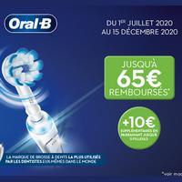 Offre de Remboursement Oral-B :  Jusqu'à 65€ Remboursés sur BAD Electrique