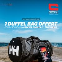 Bon Plan Crosscall : 1 produit CORE-X4 ou TREKKER-X Acheté = 1 Duffel Bag 50L HELLY HANSEN Offert