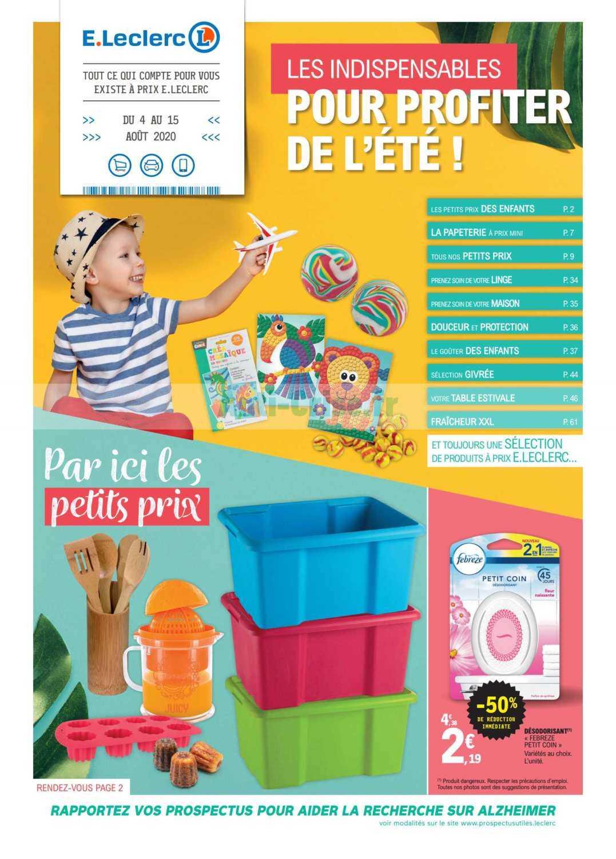 Catalogue Leclerc du 04 au 15 août 2020 (Nord-Est)