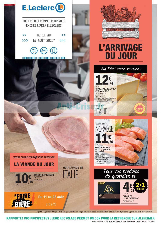 Catalogue Leclerc du 11 au 15 août 2020