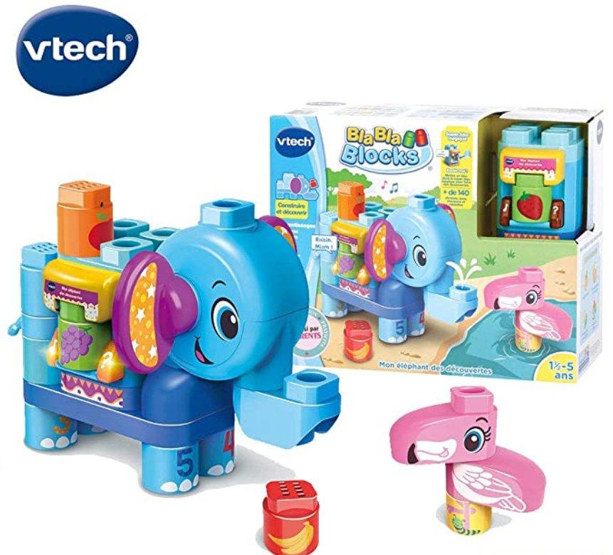 10.87€ le jouet V Tech – Bla-Bla-Blocks – Mon éléphant des découvertes