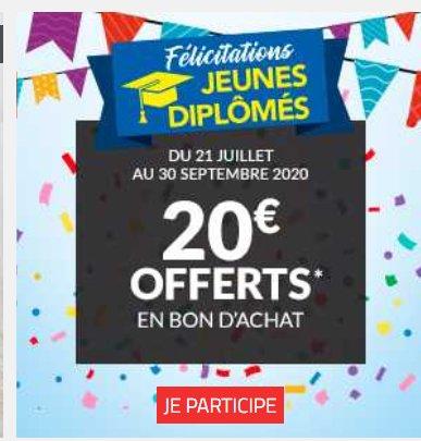Diplomés 2020 : un bon d'achat de 20€ chez BUT