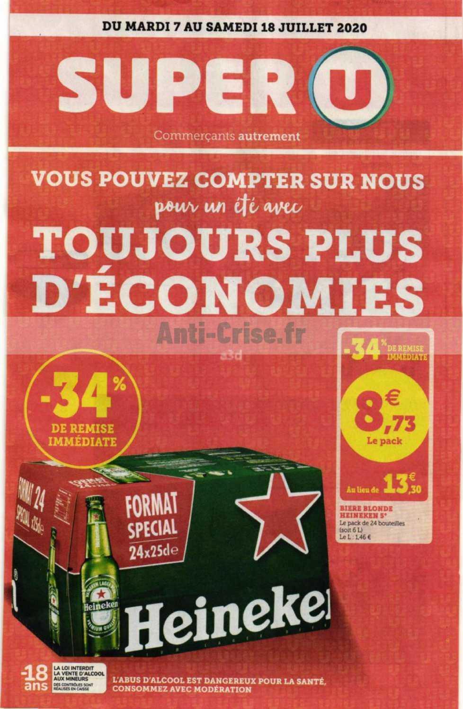 Catalogue Super U Du 07 Au 18 Juillet 2020 Catalogues Promos Bons Plans Economisez Anti Crise Fr