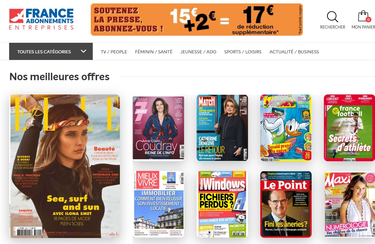 17€ de réduction sans mini sur France Abonnement