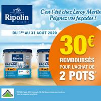 Offre de Remboursement Ripolin : 30€ Remboursés sur Peintures Façade 2en1 Universelle