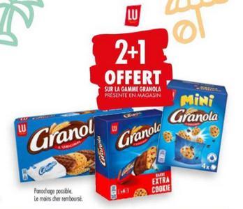 Produits Granola chez Carrefour (11/08 – 24/08)
