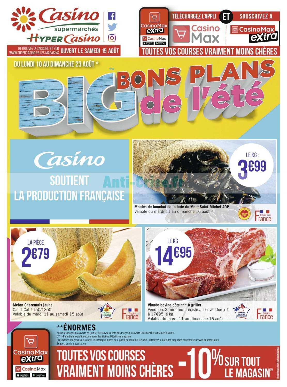 Catalogue Casino du 10 au 23 août 2020
