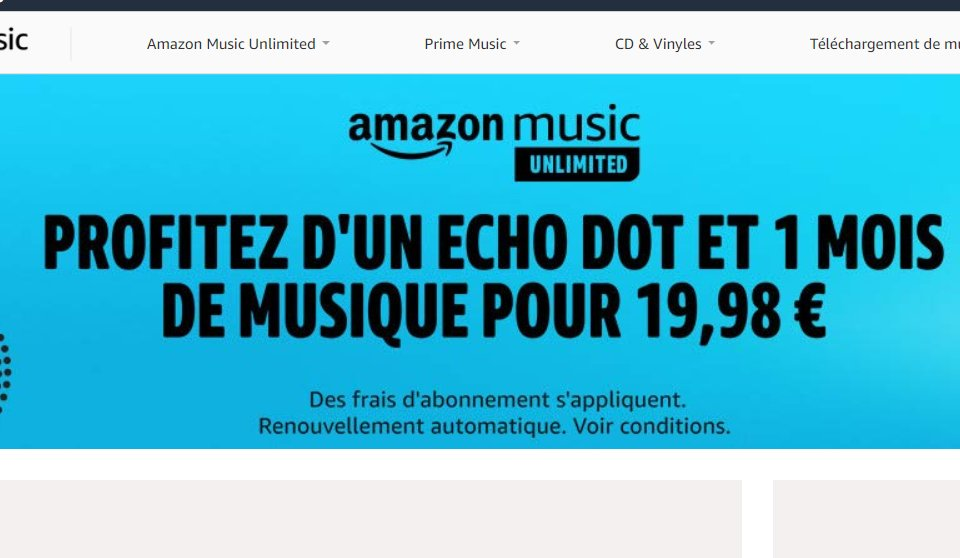 19.98€ : une enceinte ECHO DOT + 1 mois à AMAZON MUSIC UNLIMITED (Prime Amazon)