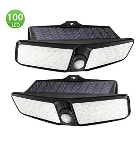 13€ le lot de deux lampes solaires d'exterieur Mpow