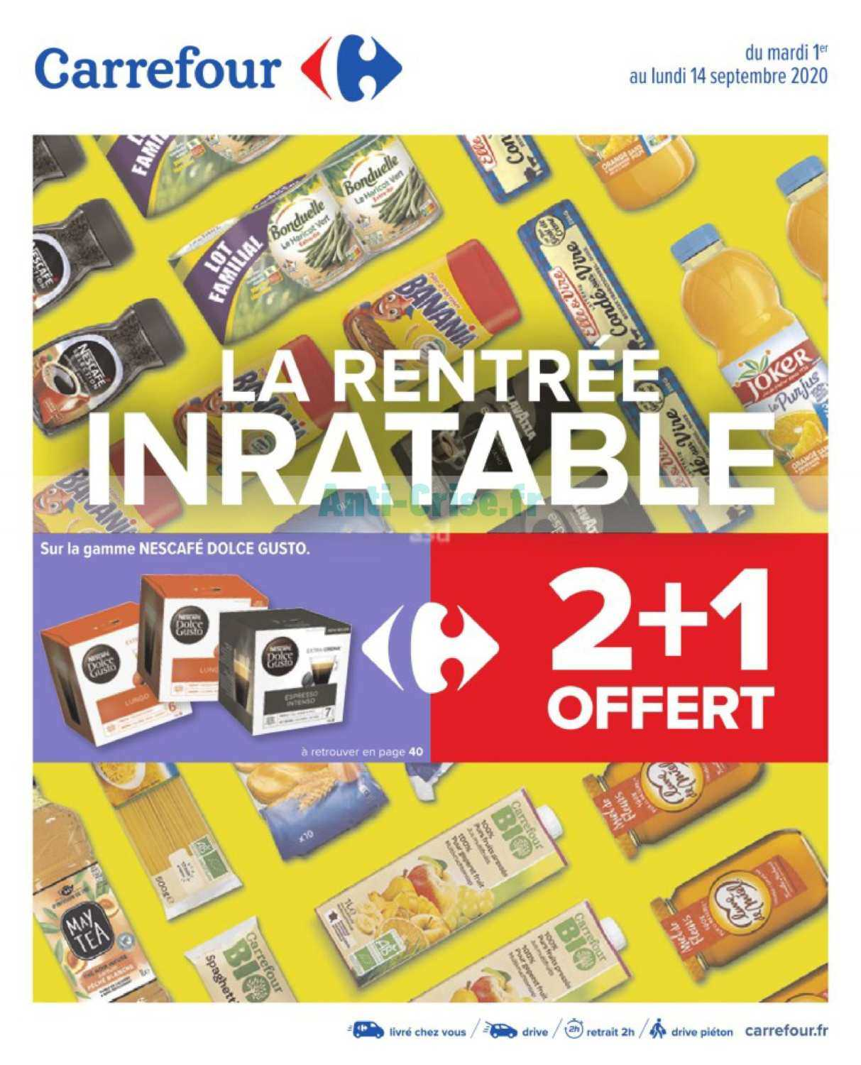 catalogue du 01 au 14 septembre 2020