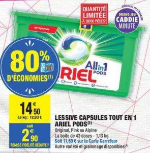 Lessive En Capsules All In 1 Ariel Chez Carrefour Market 21 09 04 10 Catalogues Promos Bons Plans Economisez Anti Crise Fr
